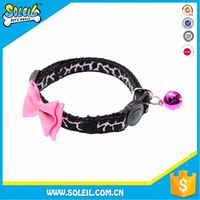 Safety And Eco-Friendly Adjustable Pink Cat Collar