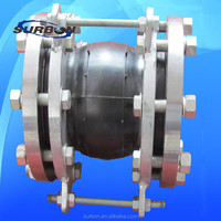 high quality four flanges single sphere standard rubber expansion joint
