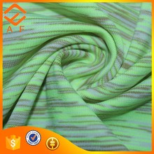 100% spun polyester single jersey colorful ice silk satin knitted fabric for women tops