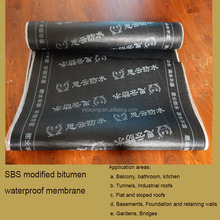 SBS modified asphalt waterproof roll used for roof