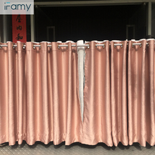 OEM ODM Customized size cheap double curtain design hotel jacquard curtain blackout