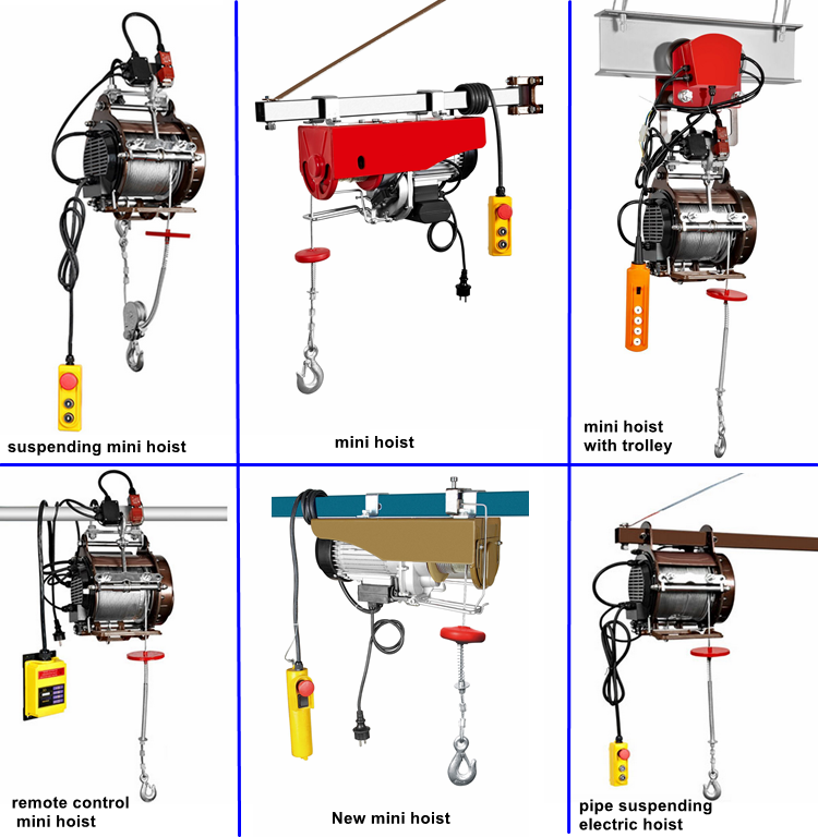 home use singel or double hooks mini hoist 100kg up to 1000kg