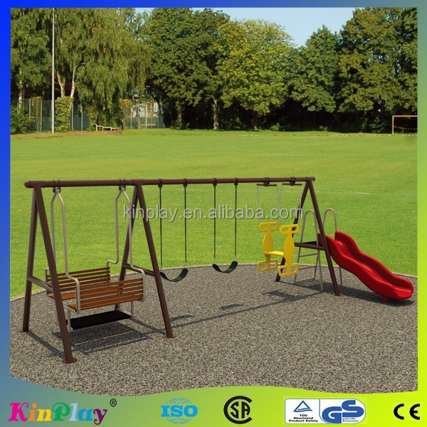 CBRL Kids Metal Swing Set with slide and baby seat