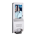 21.5 inch digital signage touch screen Upload video or image file and Schedule Playlist from Server