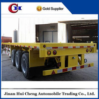 2015 hot selling flatbed semi trailer for sale with rail for export