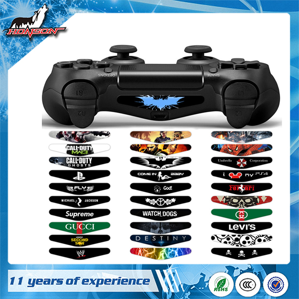 Factory Price Led Light Bar decal Skin Sticker For PS4 Controller Vinyl Skin Sticker