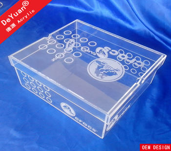 Acrylic custom printed women shoe box wholesale