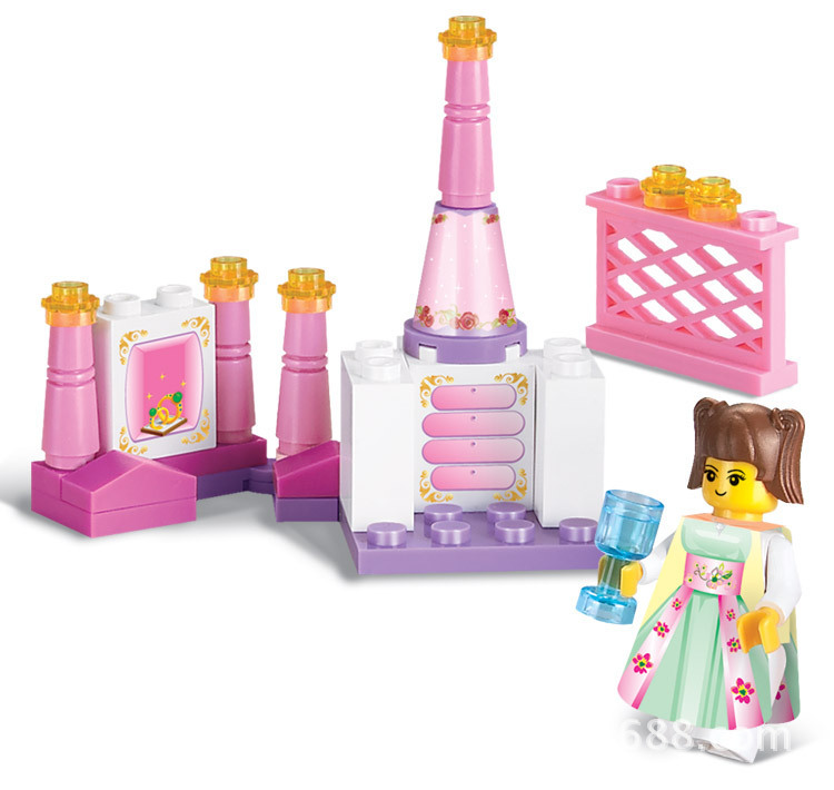 Buy Sluban Girl Pink Dream Princess Bedroom Furniture Diy Simulation Toys Building Bricks Blocks Sets Compatible With Lego In Cheap Price On Alibaba Com