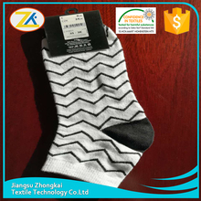 wholesale popular new hot sale white and black big wave women socks