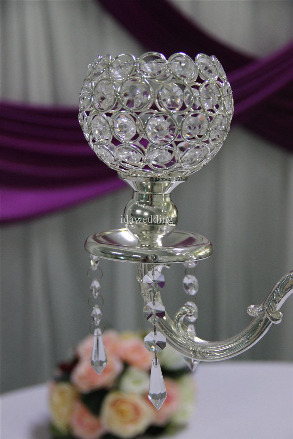 candle holder candelabra crystal table centerpiece for wedding decorations
