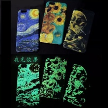 Van Gogh Oil Painting Design Phone Case--Luminous Back Cover for iPhone 6
