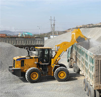 Chinese famous SEM669C 6Ton tractor with front loader used