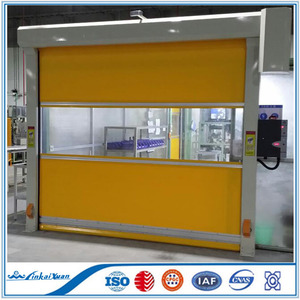 Intelligent fast roll up pvc door|high quality high speed rolling shutters door
