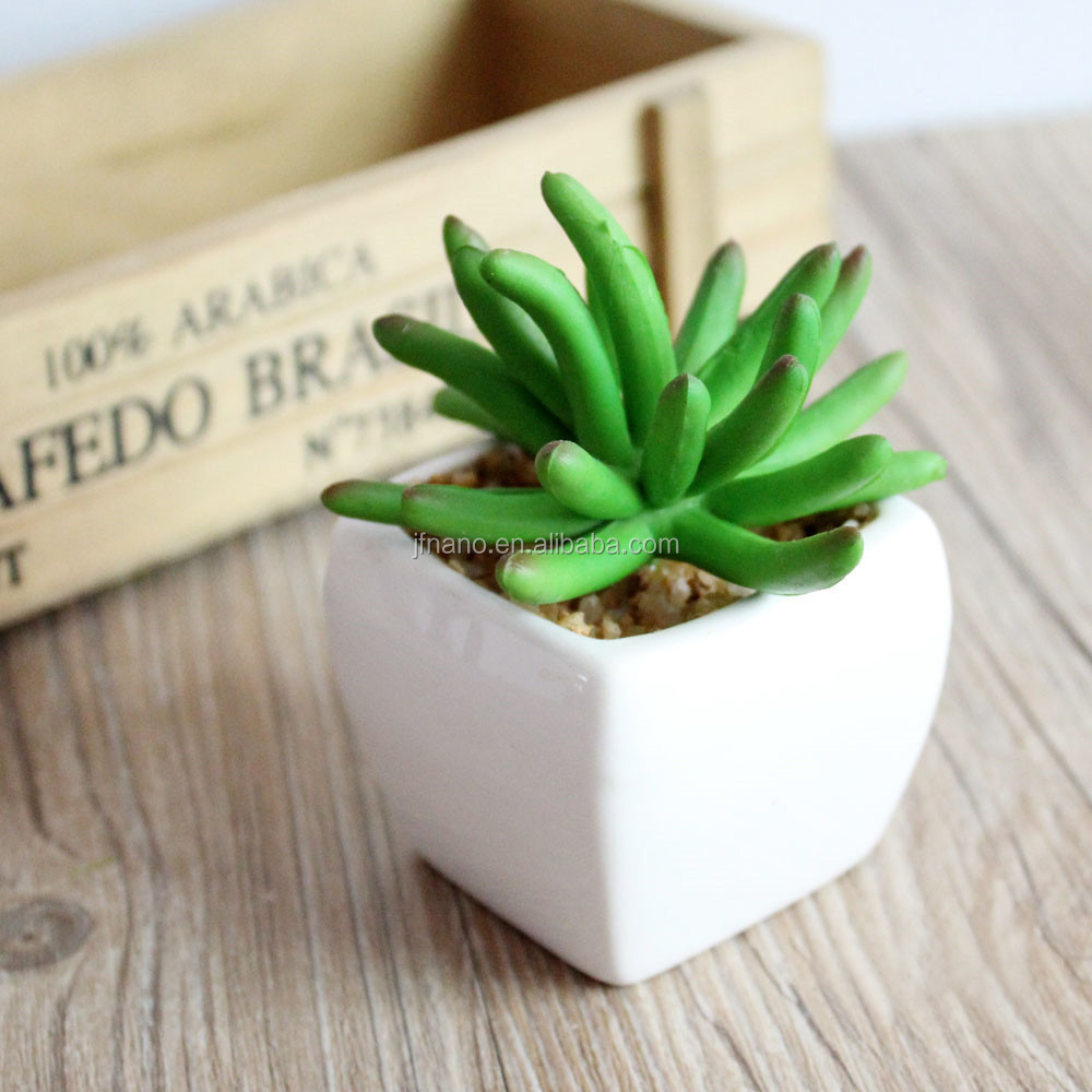 Creative christmas gift realistic plastic succulent plants artificial small potted plants