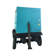 Factory direct supply portable movable 110KW 150HP mobile tire air compressor