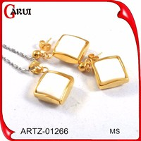 new products on china market 925 silver jewellery sets gold plated jewelry sets necklace and earrings set