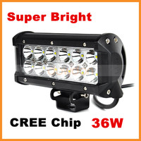 36W LED Off Road Work Light Bar SUV Sedan Auto Head Lamp