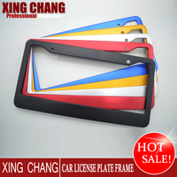 Custom High quality American Blank Colourful Aluminum License Plate Frame