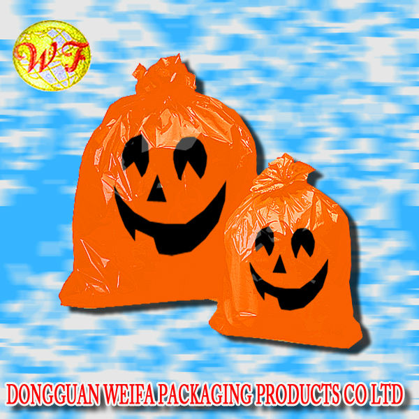 Plastic Bag Halloween pumpkin for indoor and outdoor decoration