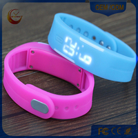 Wholesale waterproof silicone wrist LED watch men sport watch
