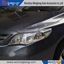 ABS Chrome Headlight cover head lamp cover For Toyota COROLLA 2011 Head light cover Auto accessories