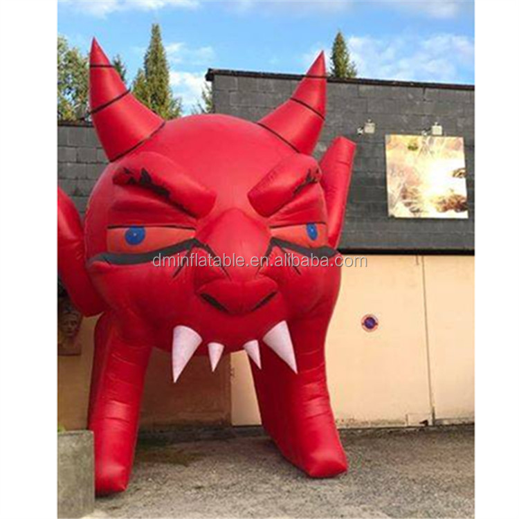 giant outdoor red monster with led lighting inflatable for club&bar halloween decoration