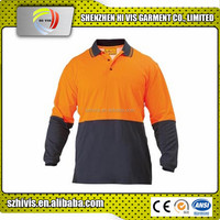 Latest design top quality work wholesale custom polo shirts hi vis