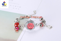2017 Popular Ladies Beaded Bracelet Watch new fashion crystal bead charm bracelet