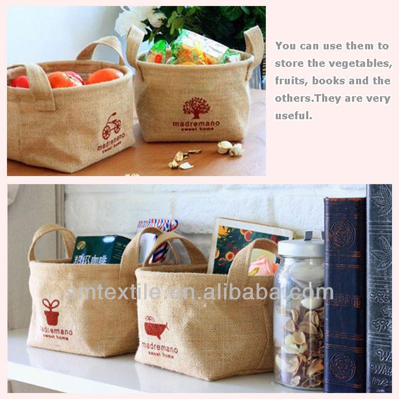 Handmade Jute Baskets : Handmade jute storage basket for sale buy
