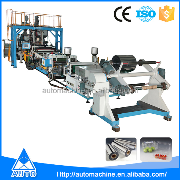 Pvc food packing cup extruder automatic plastic sheet cutting machine