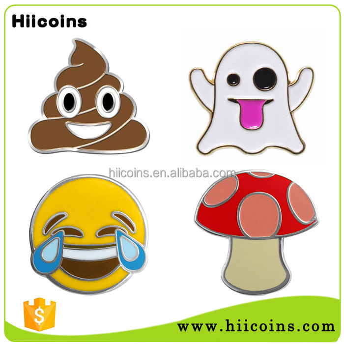 Cheap Wholesale Custom Cute Emoji Enamel Metal Pin Badge