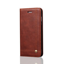 TOP Quality Vintage Retro Classic Leather Flip Phone Case For iPhone 8 Magnetic Card Slot Wallet Stand Cover For iPhone X CA5199