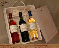 three bottles wine carry pack