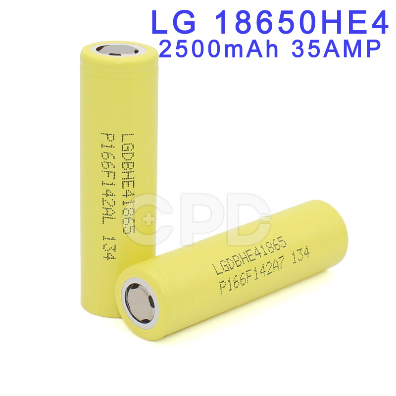 Genuine for LG HE4 18650 3.7V 2500mAh Li-ion Battery Rechargeable ICR18650 for Mountain Bike