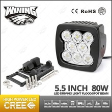 5.5'' 80W LED Work Light CRE E Driving Light Offroad Spot Flood Off road Worklight 50W/80W Headlight LED Tube Tractor Light