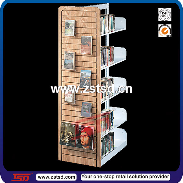 Tsd W735 Custom Retail Store Rotating Wooden Book Stand