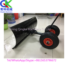 Wholesale manual adjustable galvanized push snow shovel with wheel Snow blade plough shovel