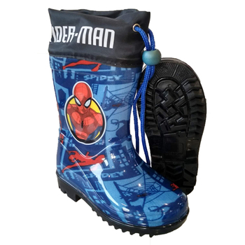 2019 Latest Fashion Cute Spiderman Kids PVC Rain Boots Anti-Slip Durable Shoes