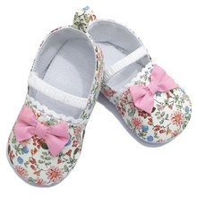Wholesale Newborn Toddler Girl Bowknot Crib Baby Shoes Soft Prewalker Colorful Baby Girl Shoes G17363