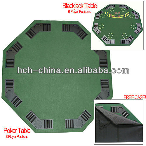 Deluxe Poker & Blackjack Table Top Case