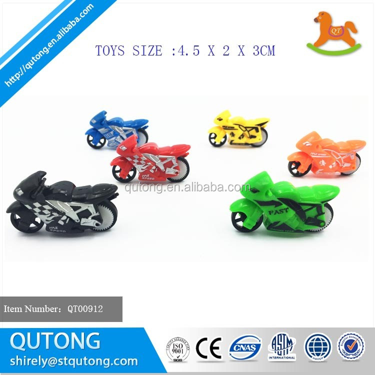 Small inertia colorful moto surprise egg toys for kids, micro motorcycle egg packing toy with surprise inside