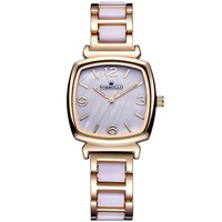 2016 Fashion Lady Gold Plated Timepieces Quartz Women Bracelet Wrist Watch Wholesale with Box