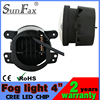 Factocy price! 4inch 30w 1800lm led headlight fog light, round jeep car led fog lamp with halo ring