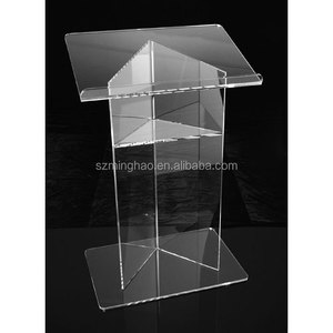 simple cheap structure clear floor acrylic lectern