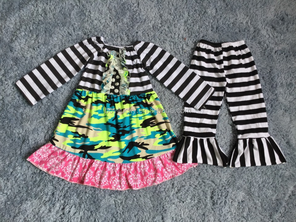 camouflage cheap import baby clothes Thick black and white stripes clothes china for baby winter clothes