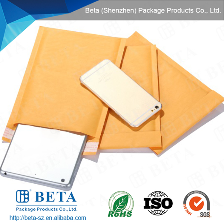 Retail Pack Kraft Bubble Envelopes Shrink Pack with your custom label