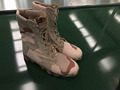 Panama pattern sole MIL SPEC desert camouflage army canvas boots with side zipper