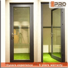 Lowes used exterior casement swing aluminum alloy hinges tempered glass design single leaf entry french door