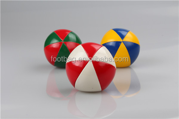 EN71 Sedex Promotion bulk mini small kick balls soft leather juggling balls for children