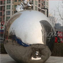 large Metal Apple with chinese baby garden sculptures